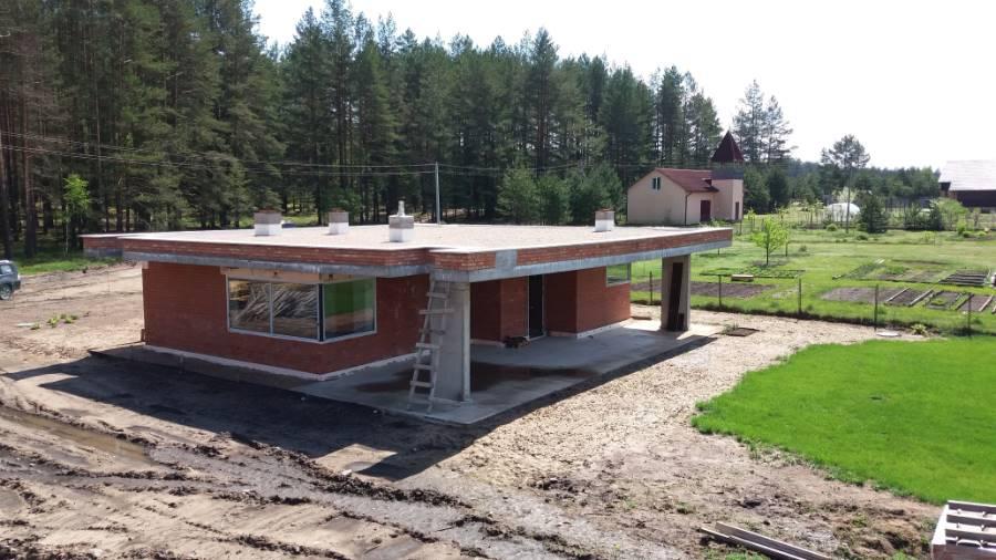 Жилой дом-Баня ТРО Балластная система. Логойский район (4 Фото)