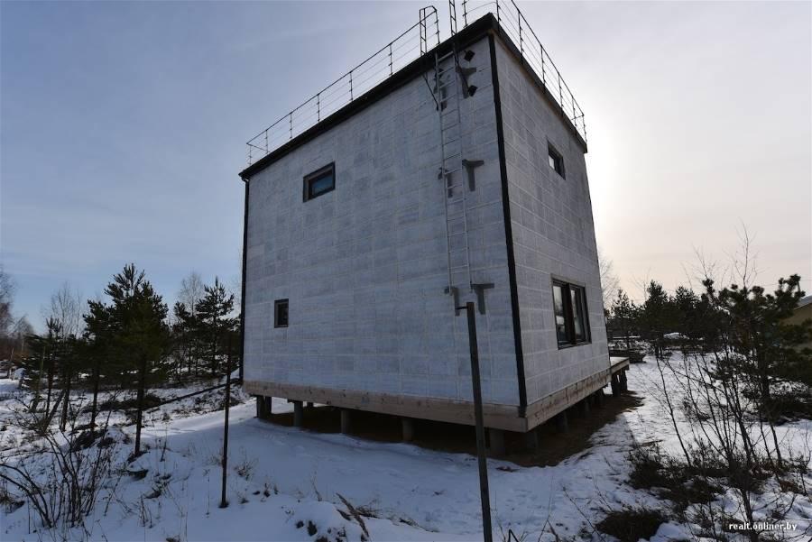 Энергоэффективный жилой дом из соломы ТРО Клеевая система. Колодищи (6 Фото)